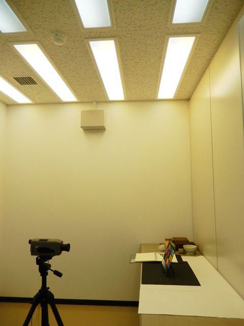 Booth used for visual perception clinical experiments.