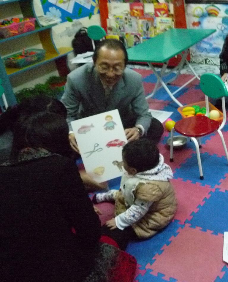 ベトナムの幼児園での予備調査時(2012年)の様子